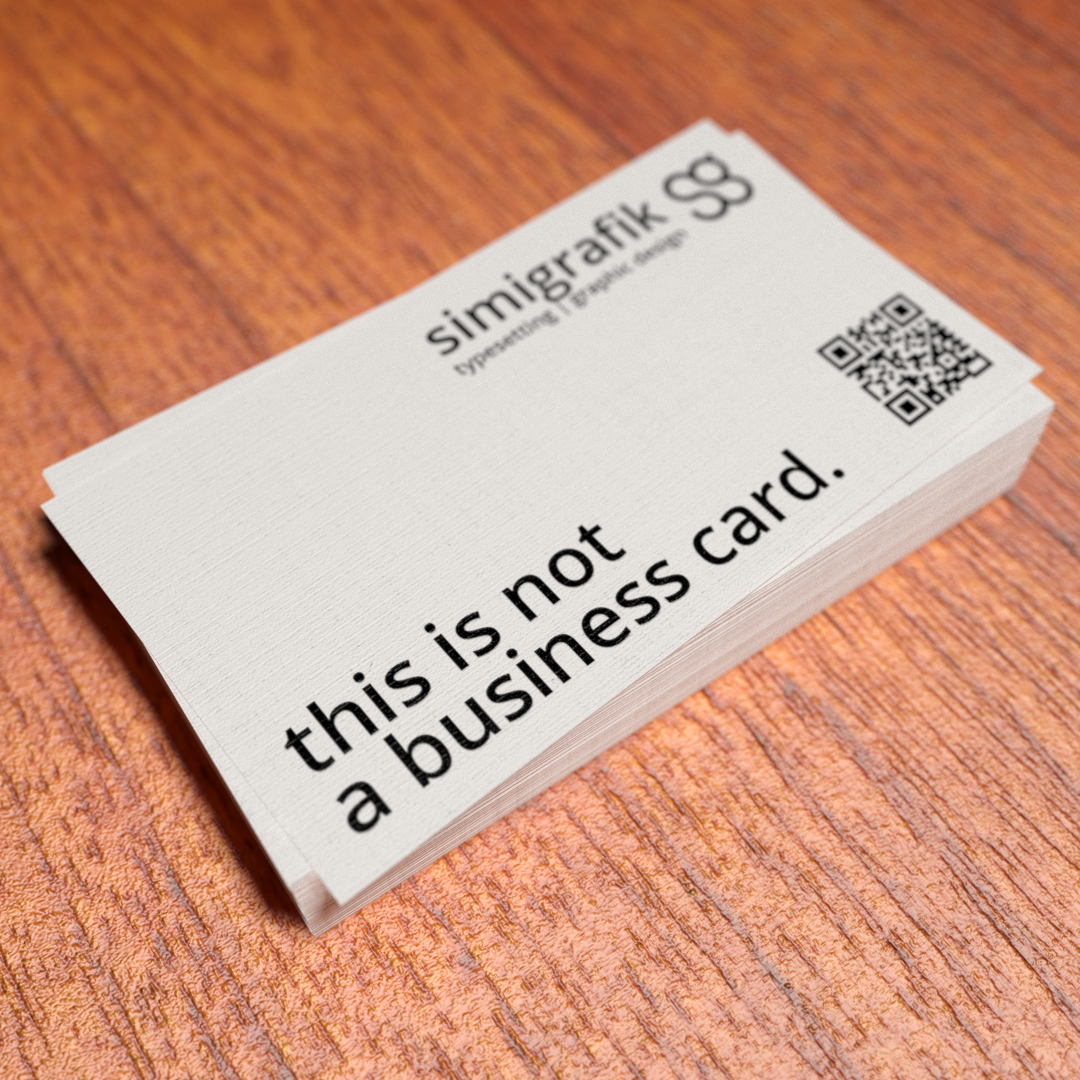 This is not a business card colourmoves